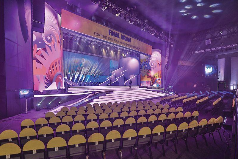 Salão para eventos como o sediado da copa do mundo
